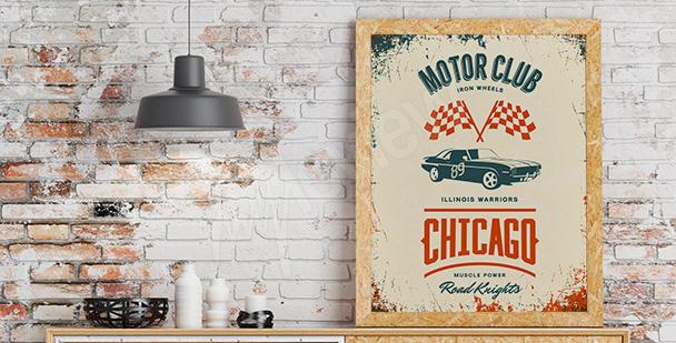 Plakat klub motoryzacyjny