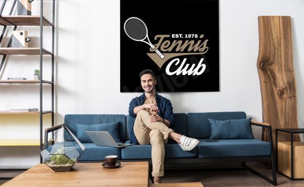 Plakat klub tenisowy