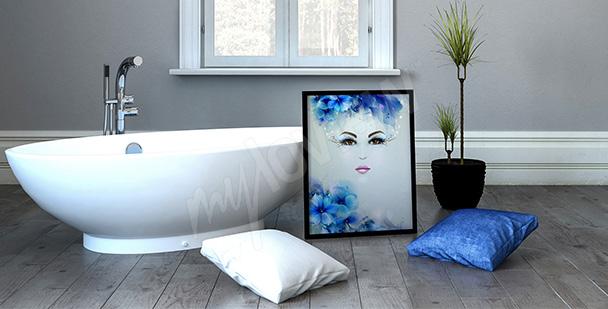Plakat kobieta styl fantasy