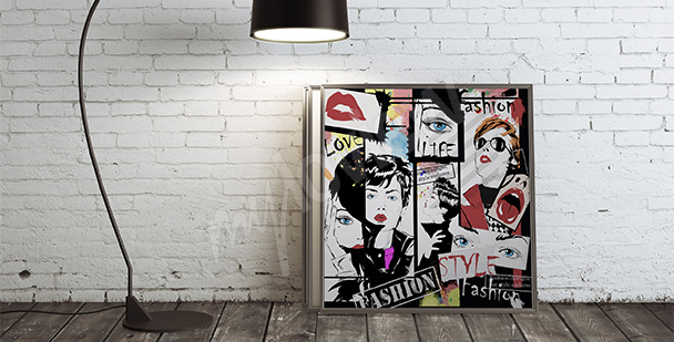 Plakat kobiety pop-art