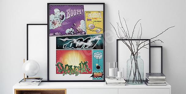Plakat komiksowy dla nastolatka
