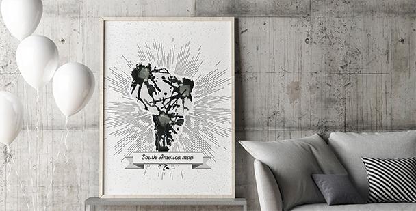 Plakat kontynenty: Ameryka Południowa