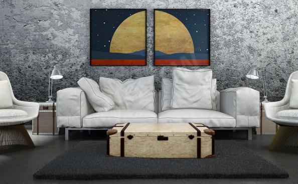 Plakat kosmiczny krajobraz
