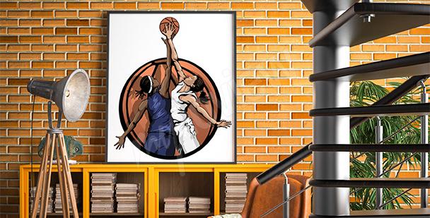 Plakat koszykówka kobieca