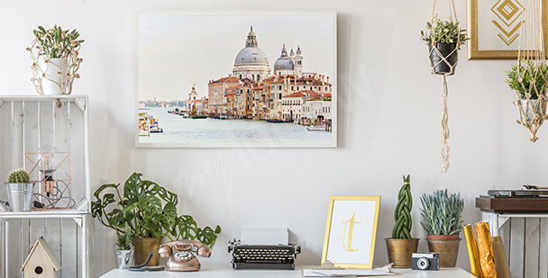 Plakat krajobraz miasta