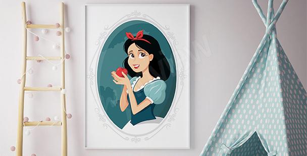 Plakat królewna z jabłkiem