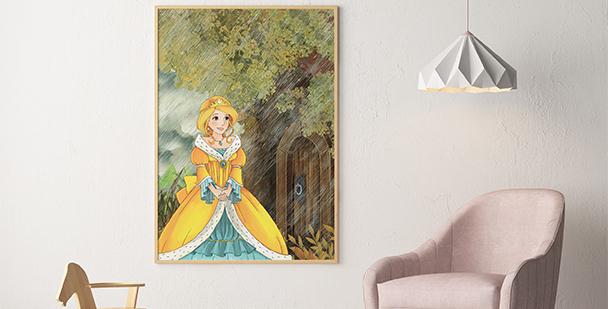 Plakat księżniczka w lesie