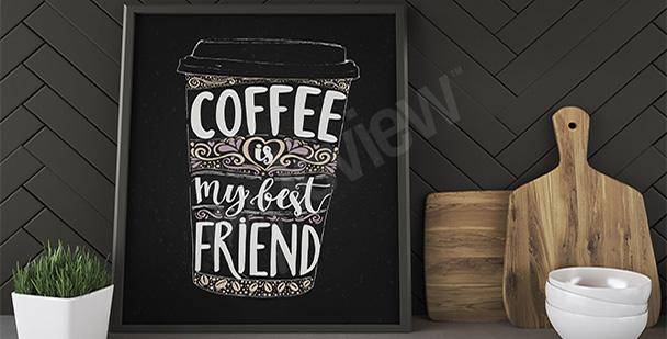 Plakat kubek kawy