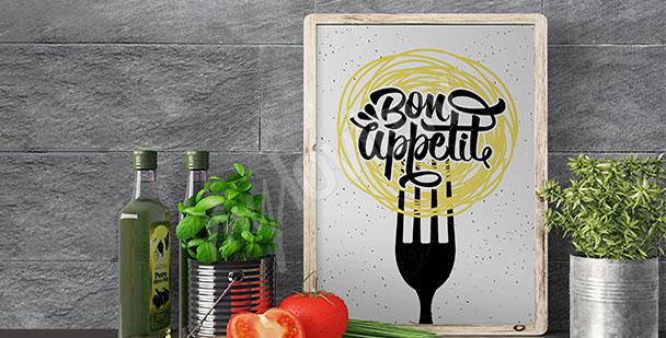Plakat kuchenny z hasłem