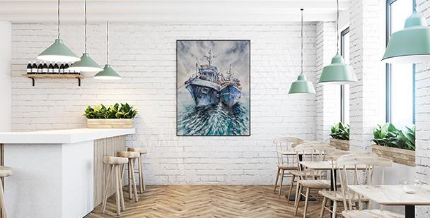 Plakat kutry rybackie