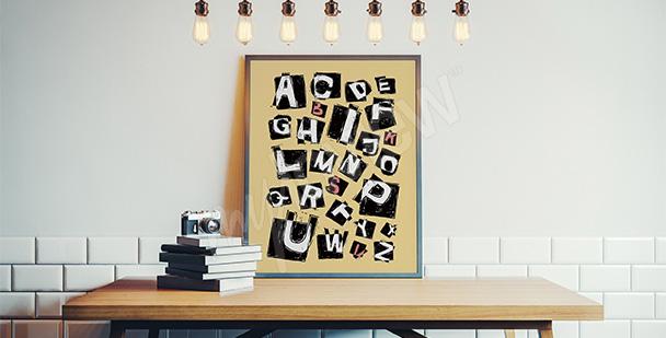 Plakat litery dla nastolatka