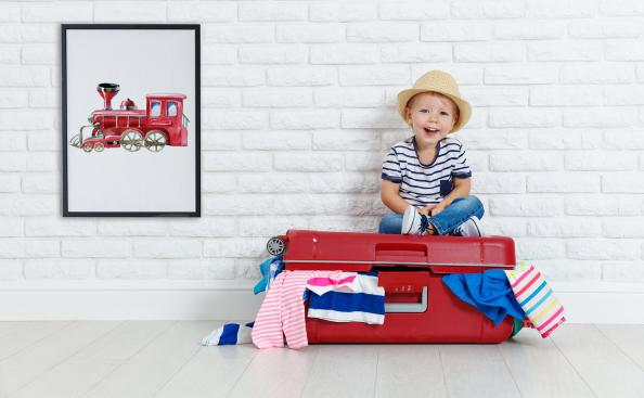 Plakat lokomotywa dla dziecka