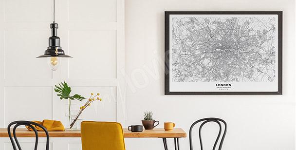 Plakat Londyn plan miasta
