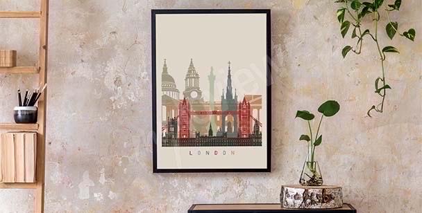 Plakat Londyn skyline