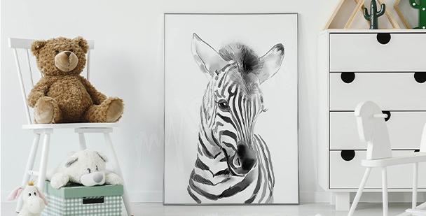 Plakat mała zebra
