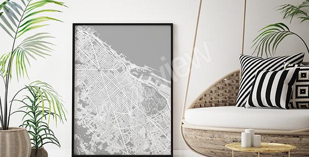 Plakat mapa Barcelony