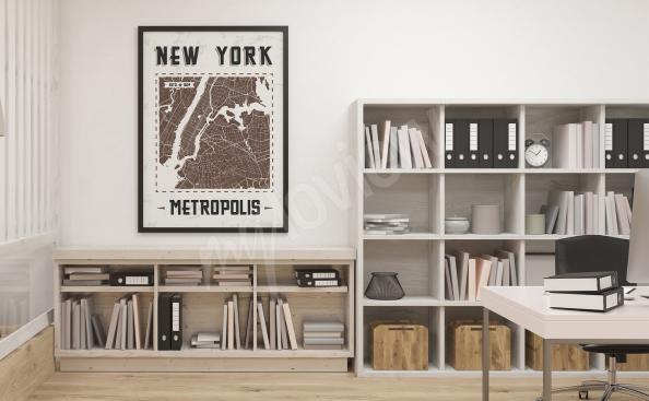Plakat mapa Nowego Jorku