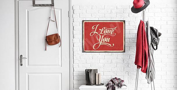 Plakat miłosne wyznanie