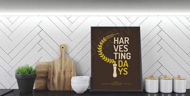 Plakat minimalistyczny z sierpem