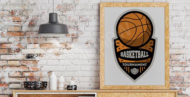 Plakat mistrzostwa koszykówki