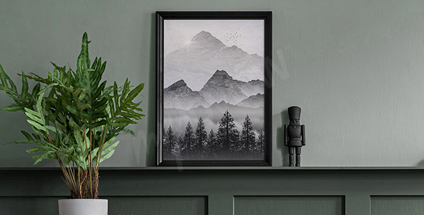 Plakat pejzaż górski