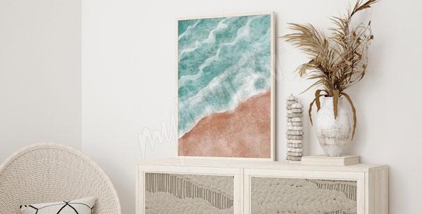 Plakat morski krajobraz