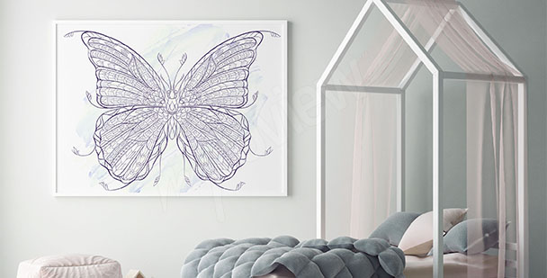 Plakat motyl ornament