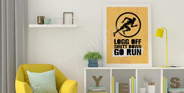 Plakat motywacyjny dla biegacza