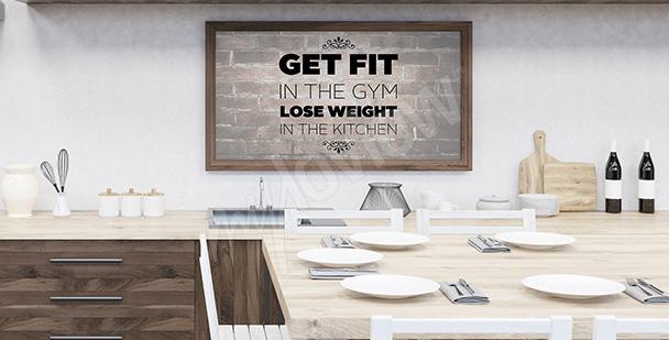 Plakat motywujący do ćwiczeń