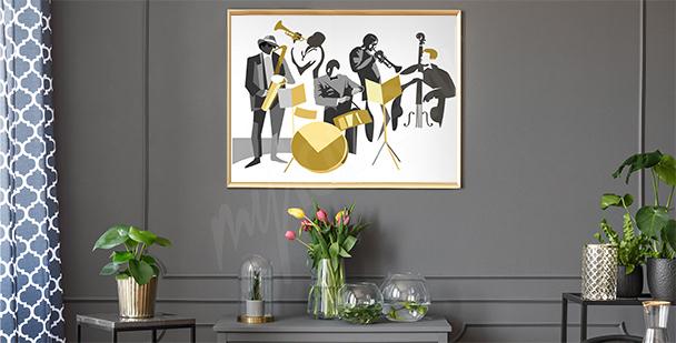 Plakat muzycy jazzowi