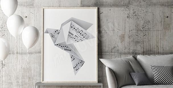 Plakat muzyczne origami