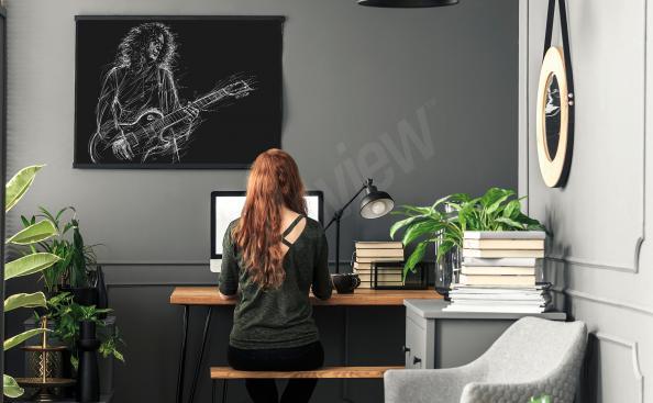 Plakat muzyk Brian May