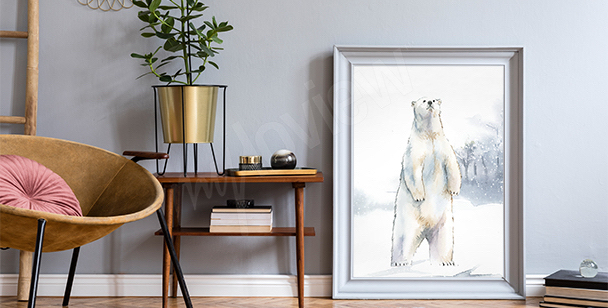 Plakat niedźwiedź polarny