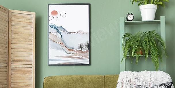 Plakat nowoczesny krajobraz