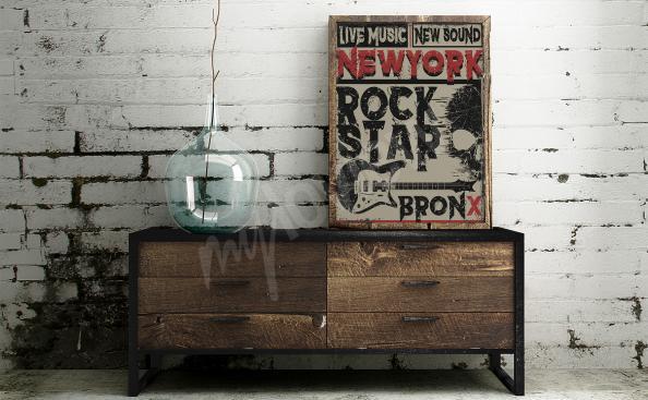 Plakat nowojorska muzyka