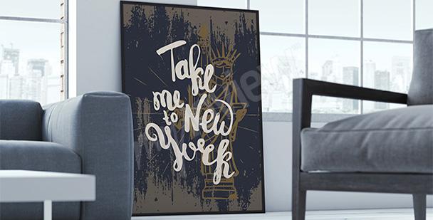 Plakat Nowy Jork typografia