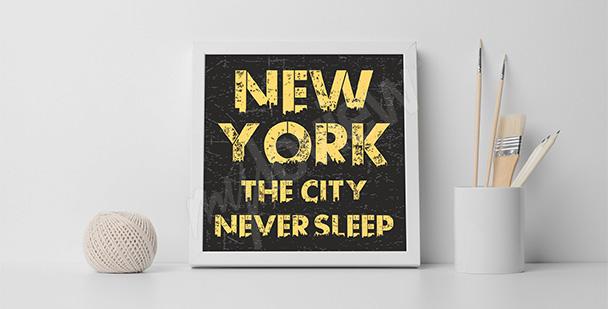 Plakat NY dla nastolatka