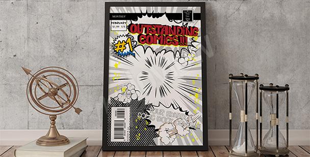 Plakat okładka komiksu