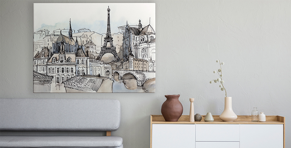 Plakat panorama Paryża