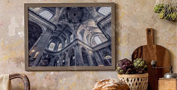Plakat paryska architektura