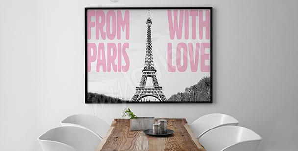 Plakat paryskie inspiracje