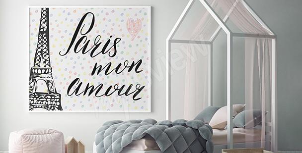 Plakat Paryż dla dzieci