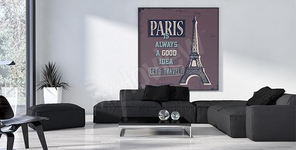 Plakat Paryż do salonu