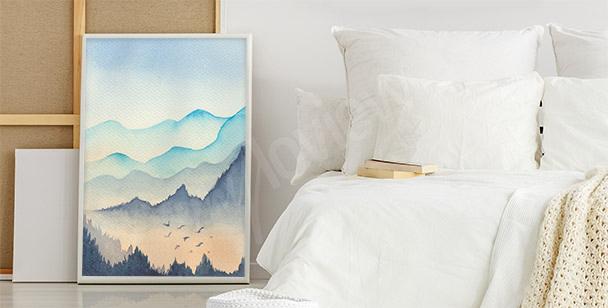 Plakat pastelowy pejzaż