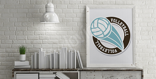 Plakat piłka do siatkówki