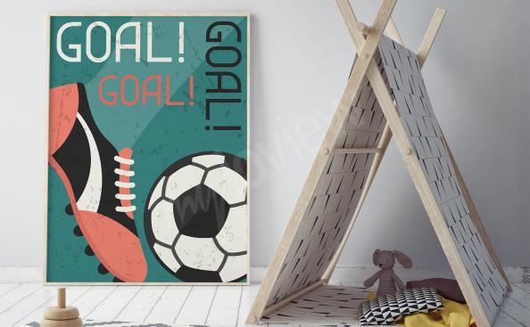 Plakat piłka nożna retro