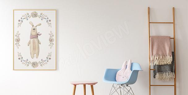 Plakat pluszowy królik