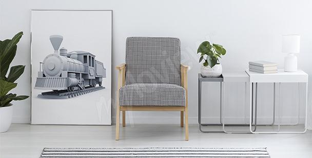 Plakat pociąg 3D