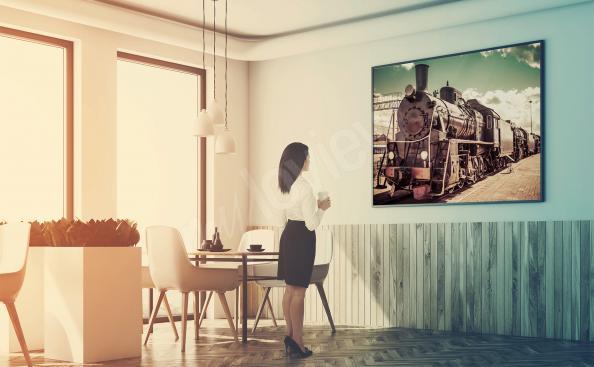 Plakat pociąg do restauracji