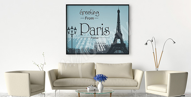 Plakat pocztówka z Paryża